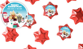 At The North Pole Christmas Chocolate Stars