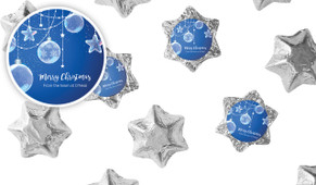 Crystal Baubles Christmas Chocolate Stars