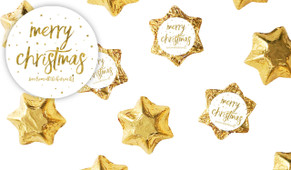 Gold Confetti Stars Christmas Chocolate Stars