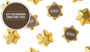 Let Us Design For You Foil Covered Chocolate Stars