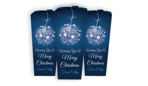 Blue Ornament Christmas Personalised Chocabox