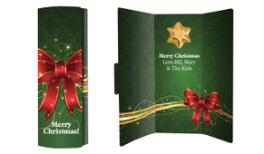 Christmas Bow Personalised Chocolate Card
