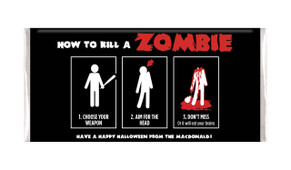 How To Kill A Zombie Personalised Halloween Chocolate Bar