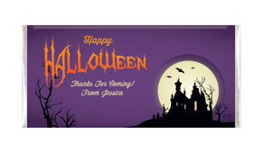 Creepy House Halloween Personalised Chocolates Bar