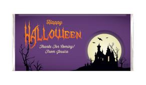 Creepy House Halloween Personalised Chocolates Bar