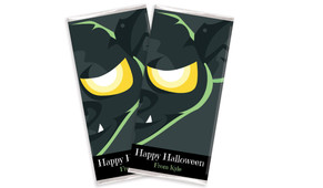 Face Of Bat Halloween Personalised Chocolates Bar