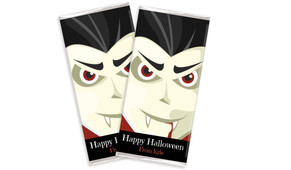 Face Of Vampire Halloween Personalised Chocolates Bar