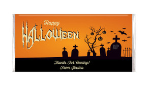 Graveyard Halloween Personalised Chocolates Bar