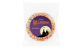 Creepy House Halloween Personalised Chocolate Freckle