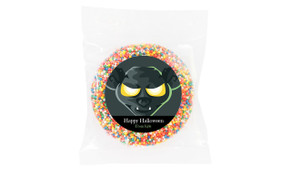 Face Of Bat Halloween Personalised Chocolate Freckle