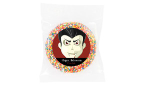 Face Of Vampire Halloween Personalised Chocolate Freckle