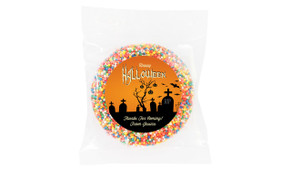 Graveyard Halloween Personalised Chocolate Freckle