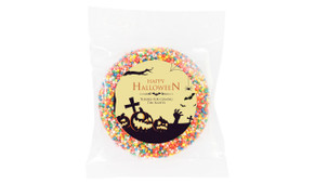 Graveyard Pumpkins Halloween Personalised Chocolate Freckle