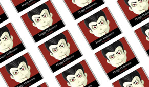 Face Of Vampire Halloween Personalised Mini Chocolates