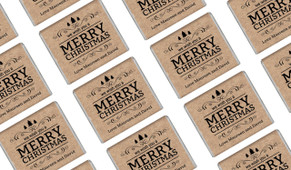 Merry Christmas On Kraft Personalised Mini Chocolates