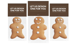 Let Us Design For You Gingerbread Man With Custom Topper