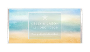 Beach Watercolour Personalised Chocolate Bar