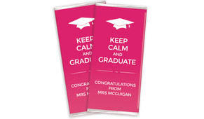 Keep Calm School Graduation Chocolates