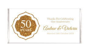 Classic Gold Wedding Anniversary Chocolates