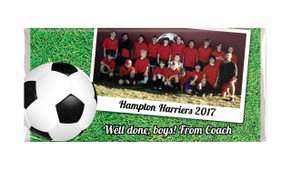 Soccer Photo Personalised Chocolate Bar