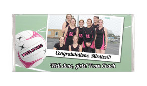Netball Photo Personalised Chocolate Bar