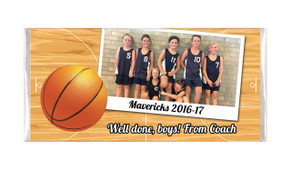 Basketball Photo Personalised Chocolate Bar