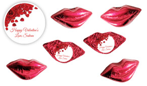 Petal Message Foil Chocolate Lips