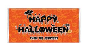 Creepy Halloween Text Personalised Chocolate Bar