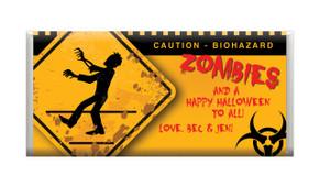 Zombie  Apocalypse Personalised Halloween Chocolates.