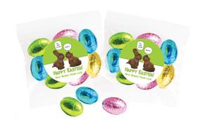 Chocolate Bunnies Personalised Bag Of Easter Eggs