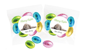 Floppy Eared Rabbit Personalised Bag Of Easter Eggs
