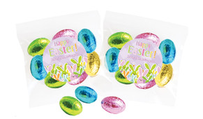 Fluffle Of Bunnies Personalised Bag Of Easter Eggs