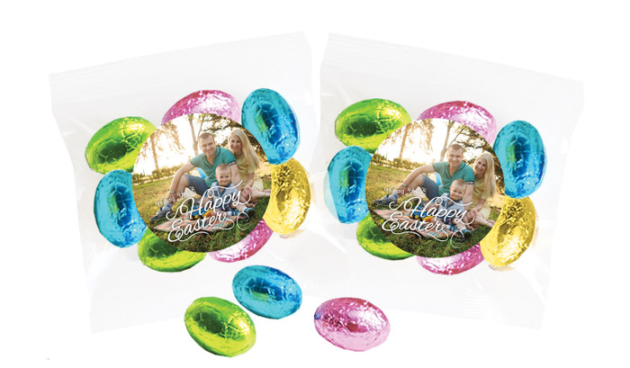 A Happy Easter Photo Personalised Bag Of Easter Eggs