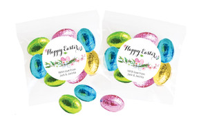 Floral Watercolour Personalised Bag Of Easter Eggs