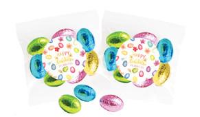 Watercolour Eggs Personalised Bag Of Easter Eggs