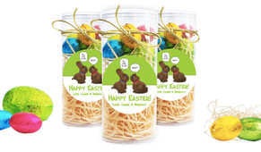 Chocolate Bunnies Personalised Easter Egg Tube