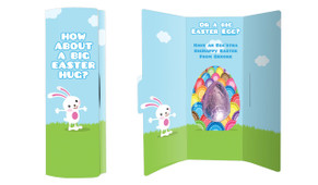 Big Egg Bunny Personalised Chocolate Card