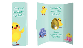 Chickens Hatching Personalised Easter Chocolate Card