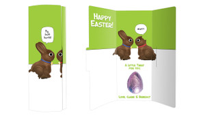 Chocolate Bunnies Personalised Easter Chocolate Card