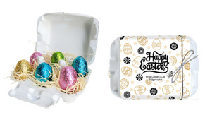 Sophisticated Personalised Easter Egg Carton