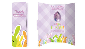 Fluffle Of Bunnies Personalised Easter Chocolate Card
