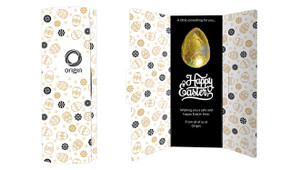 Sophisticated Personalised Easter Chocolate Card