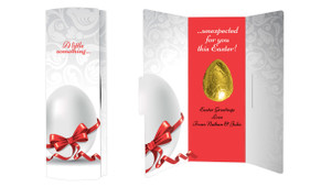 Classic White Personalised Easter Chocolate Card