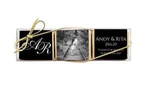 Add A Photo Black Mini Chocolate Trio Favour