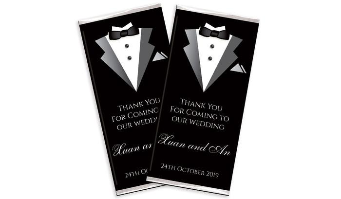 Groom & Bride Suit Wedding Chocolates