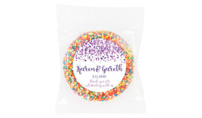 Confetti Purple Personalised Giant Chocolate Freckle