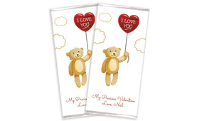 Floating Bear & Balloon Valentine's Day Chocolate Bar