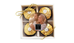 A Photo With Sqaure Wedding Ferrero Rocher Gift Box