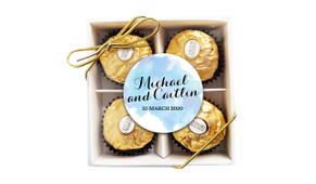 A Splash Of Watercolour Blue Wedding Ferrero Rocher Gift Box