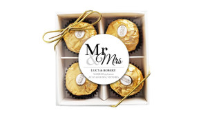 Mr & Mrs Announcement Wedding Ferrero Rocher Gift Box